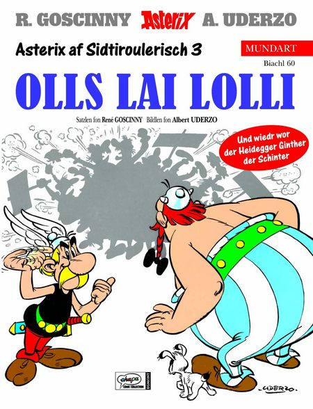 Asterix Mundart 60: Sidtiroulerisch 3 - Das Cover