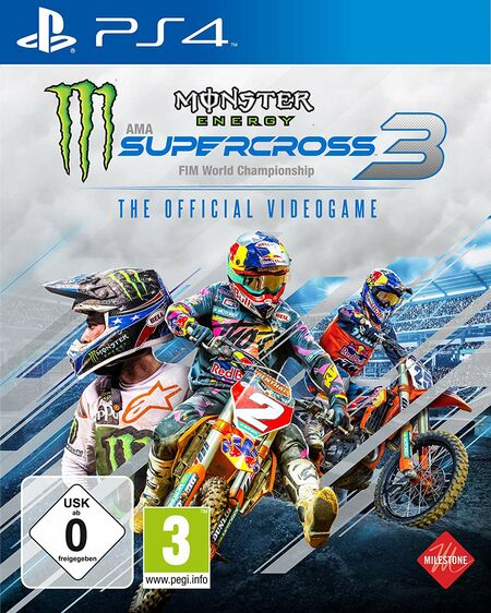 Monster Energy Supercross - The Official Videogame 3 (PS4) - Der Packshot