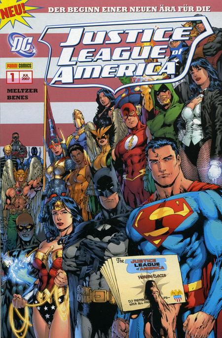 Justice League Of America 1: Aus der Asche - Das Cover