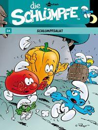 Hier klicken, um das Cover von Die Schlue~mpfe 24: Schlumpfsalat zu vergrößern