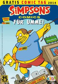 Hier klicken, um das Cover von Simpsons Comics fue~r umme - Gratis Comic Tag 2014 zu vergrößern