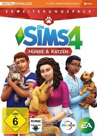 Hier klicken, um das Cover von Die Sims 4: Hunde & Katzen (PC) zu vergrößern