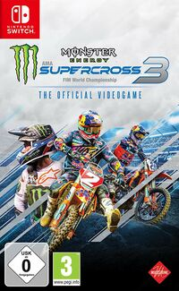 Hier klicken, um das Cover von Monster Energy Supercross - The Official Videogame 3 (Switch) zu vergrößern