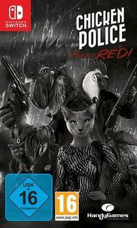 Hier klicken, um das Cover von Chicken Police: Paint it Red! (Switch) zu vergrößern