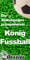 König Fußball auf den Splashpages