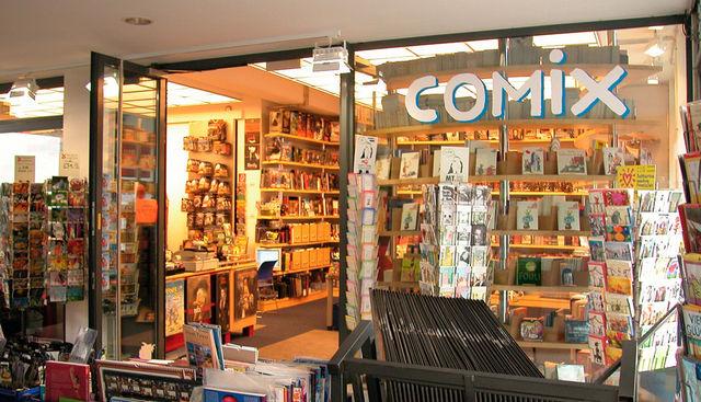 COMIX  Hannover - und so sieht unsere Laden von der Seite aus