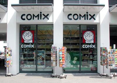 COMIX  Hannover - so sieht unser Laden von vorne aus--die Strasse ist die Goseriede am Steintor