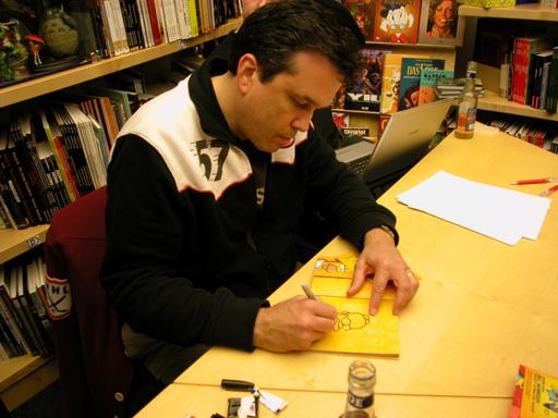 COMIX  Hannover - Bill Morrison beim Signieren