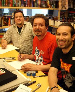 COMIX  Hannover - Riccardo, Goran und Davide