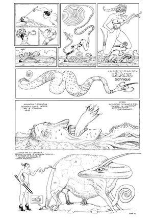 Pressebild 10_ Moebius, Le chasseur déprime, 2007/2008, Seite 29, Tusche auf Papier, digital bearbeitet - Klickt hier, um die große Version zu sehen...