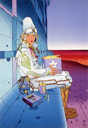 Pressebild 4_ Moebius, Starwatcher, 1985, Tusche und Aquarell auf Papier, ohne Maße - Klickt hier, um die große Version zu sehen...