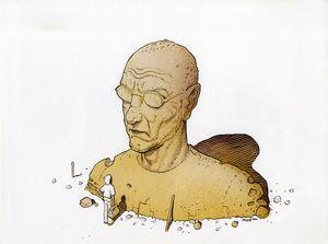 Pressebild 7_ Moebius, Trait de génie: Giraud-Moebius, 2000, Tusche und Aquarell auf Papier, 24 x 32 cm - Klickt hier, um die große Version zu sehen...