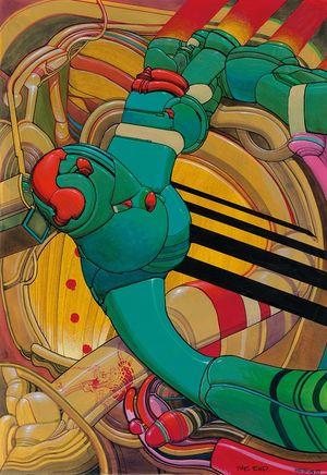 Pressebild 9_ Moebius, Ayna, 1989, Seite 4, farbige Tusche, Gouache und Acryl auf Papier, 32,3 x 22,7 cm - Klickt hier, um die große Version zu sehen...