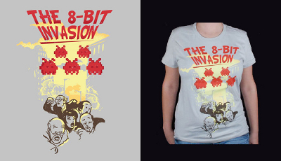 8_bit_invasion_T_Shirt