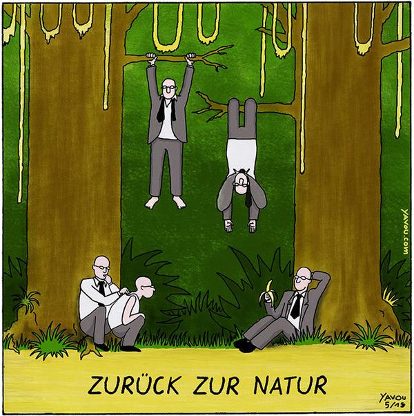 Cartoons von Yavou 2018- Woche 26 - Zurück zur Natur