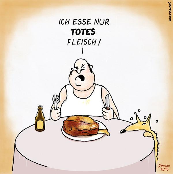 Cartoons von Yavou 2018 - Woche 27 - Fleisch