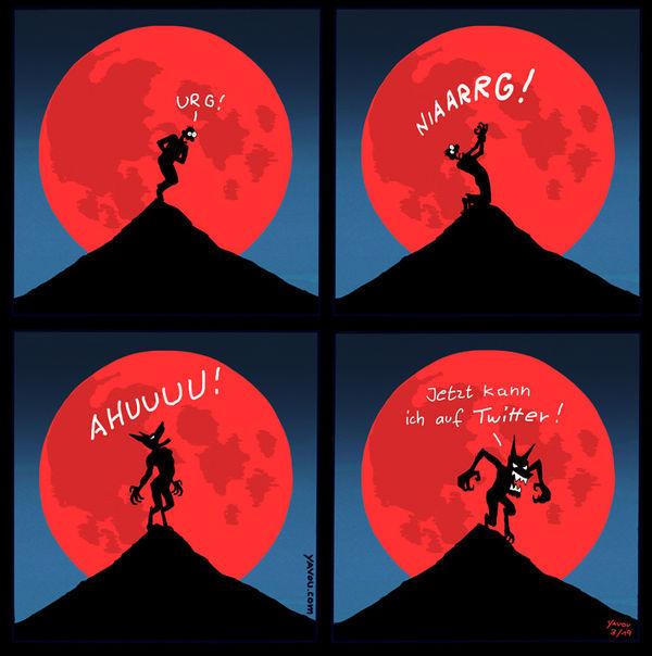Cartoons von Yavou 2019 - Woche 11 - Blutmond
