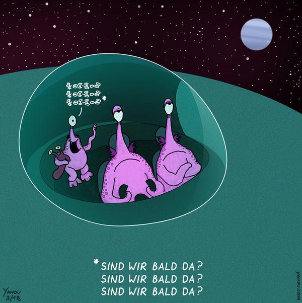 Cartoons von Yavou 2019 - Woche 14 - Spacetravel