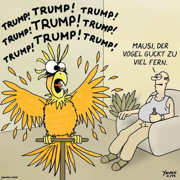 Cartoons von Yavou 2019 - Woche 15 - Trump