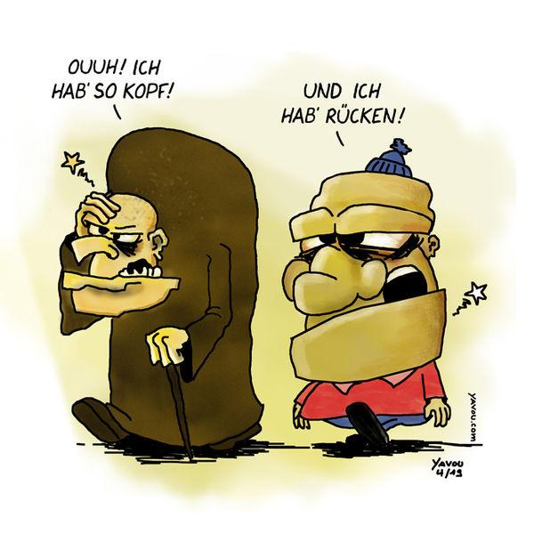 Cartoons von Yavou 2019 - Woche 16 - Kopf!