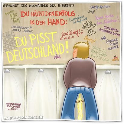 Du pisst Deutschland