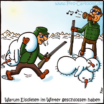 Eisdielen im Winter