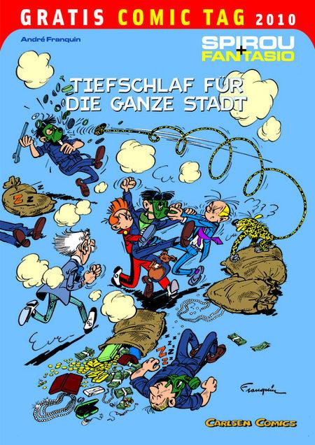 Spirou + Fantasio: Tiefschlaf für die ganze Stadt - Gratis Comic Tag 2010 - Das Cover