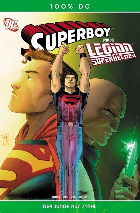 100% DC 28: Superboy und die Legion der Superhelden - Der Junge aus Stahl - Das Cover
