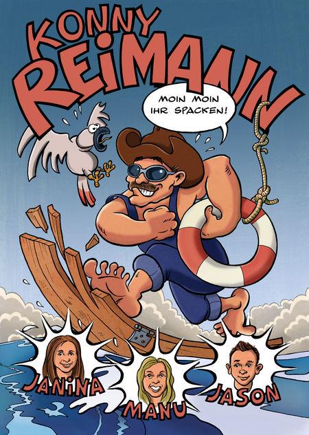 Konny Reimann 1: Moin, Moin Ihr Spacken! - Das Cover
