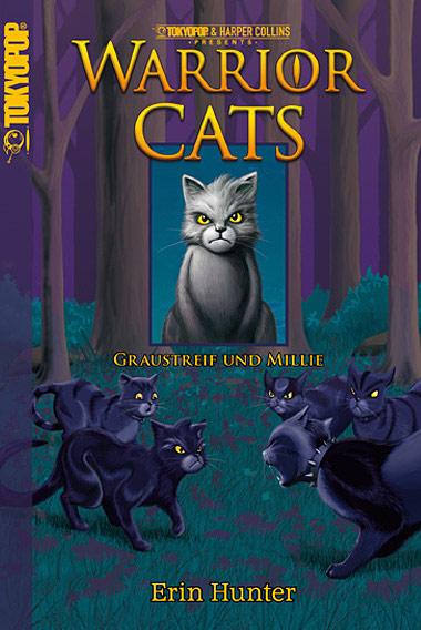 Warrior Cats: Graustreif und Millie - Das Cover
