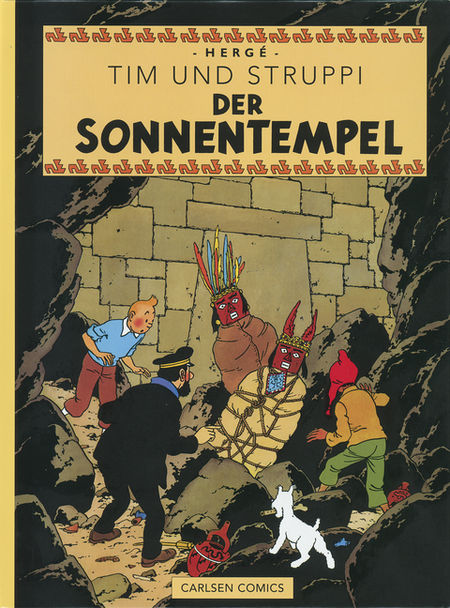 Tim & Struppi Farbfaksimile 13: Der Sonnentempel - Das Cover