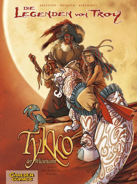 Die Legenden von Troy - Tykko der Wüstensohn 1: Die Reiter des Windes - Das Cover