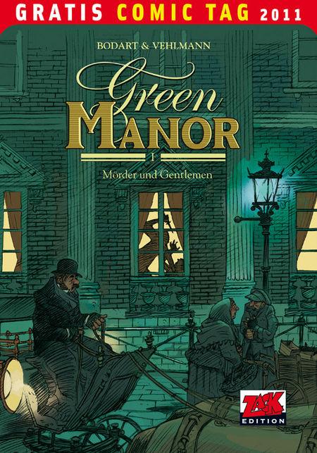 Green Manor 1: Mörder und Gentlemen - Gratis Comic Tag 2011 - Das Cover