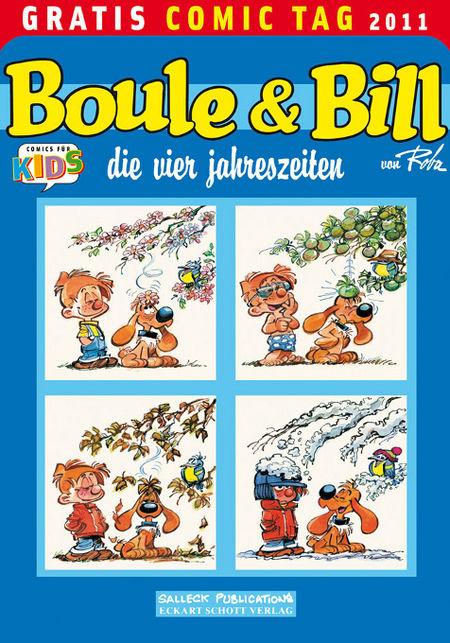 Boule & Bill: die vier jahreszeiten - Gratis Comic Tag 2011 - Das Cover