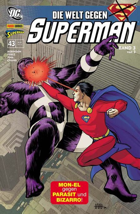 Superman Sonderband 43: Die Welt gegen Superman Band 3 - Das Cover