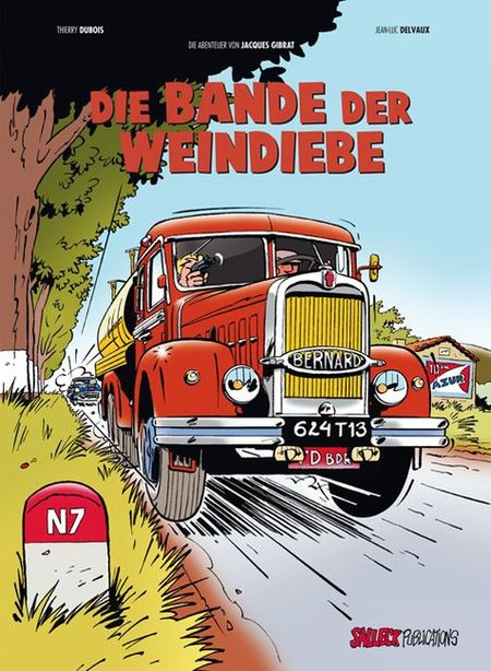 Die Abenteuer von Jacques Gibrat 1: Die Bande der Weindiebe  - Das Cover
