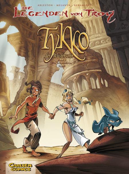 Die Legenden von Troy  Tykko der Wüstensohn 2: Die versunkene Stadt - Das Cover