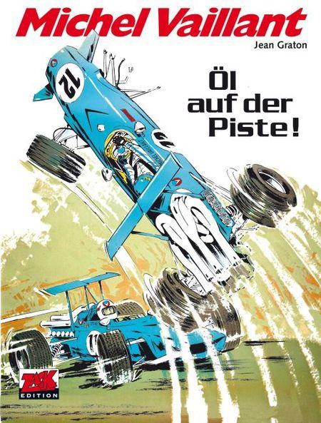 Michel Vaillant 18: Öl auf der Piste! - Das Cover