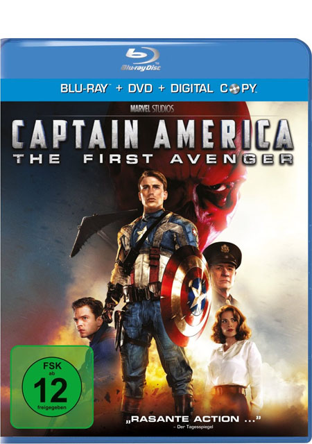 Captain America (Blu-ray + DVD) - Das Cover