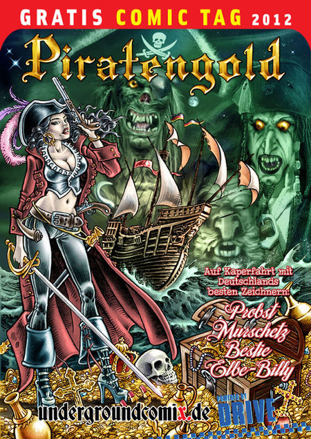 Piratengold - Gratis Comic Tag 2012 - Das Cover