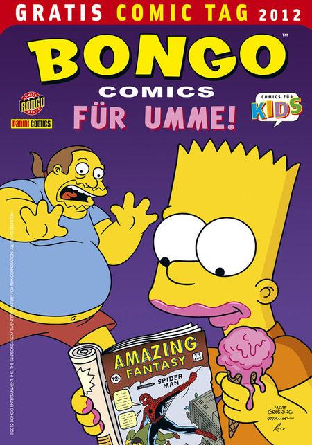 Bongo Comics für umme - Gratis Comic Tag 2012 - Das Cover