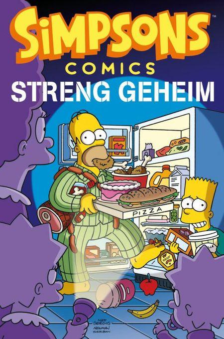 Simpsons Comics Sonderband 21: Streng geheim - Das Cover