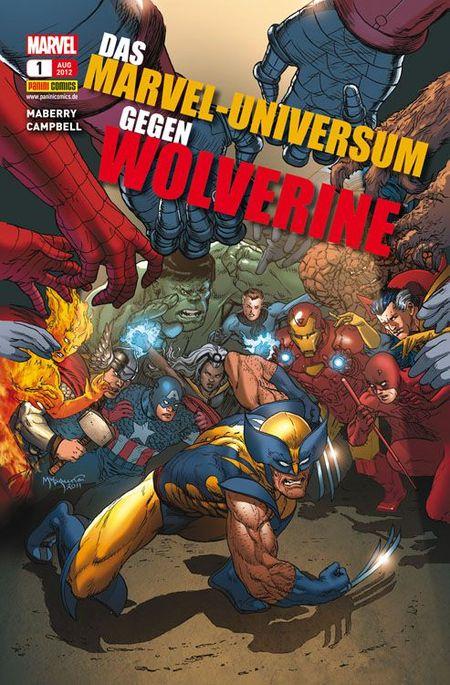 Das Marvel-Universum gegen Wolverine 1 - Das Cover