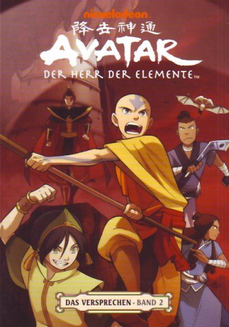 Avatar: Der Herr der Elemente - Das Versprechen: Band 2 - Das Cover