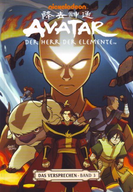 Avatar: Der Herr der Elemente - Das Versprechen: Band 3 - Das Cover
