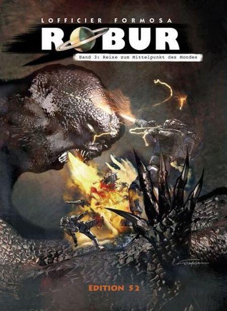 Robur 3: Reise zum Mittelpunkt des Mondes - Das Cover