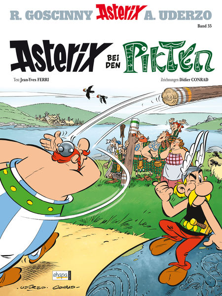 Asterix 35: Asterix bei den Pikten - Das Cover
