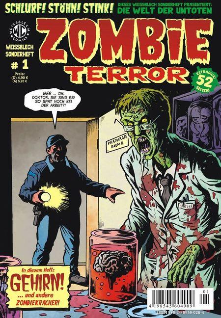 Weissblech Sonderheft 1: Zombieterror - Das Cover