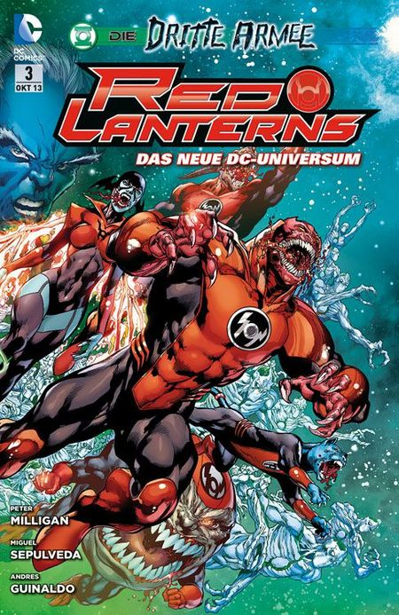 Red Lanterns 3: Der Angriff der Dritten Armee - Das Cover
