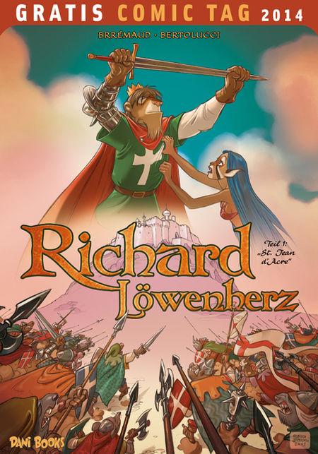 Richard Löwenherz - Gratis Comic Tag 2014 - Das Cover